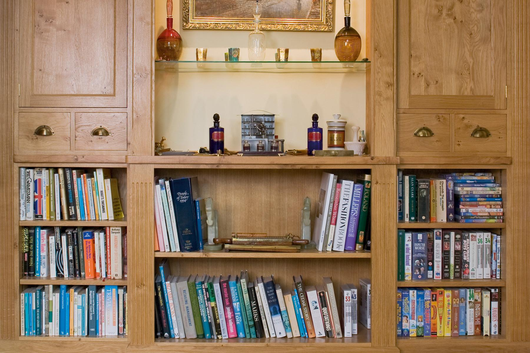 Harrogate Burr Oak Display Cabinets & Shelving