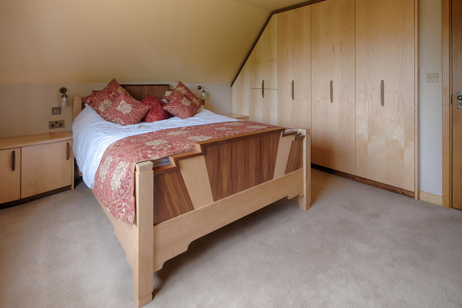 Walnut & maple fitted bedroom