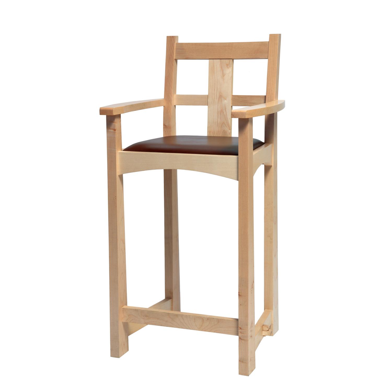 Excellent Arts Crafts Bar Stool Bespoke Hardwood Furniture From Treske Lamtechconsult Wood Chair Design Ideas Lamtechconsultcom