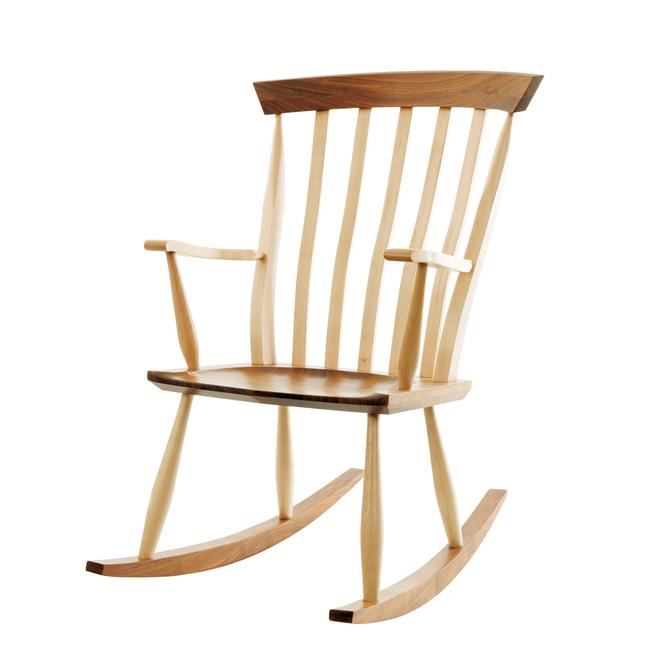 Walnut and Ash Rocking Chair